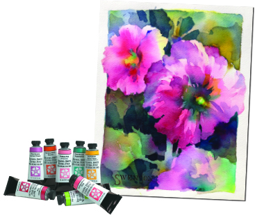 """Hollyhocks"" by Brenda Swenson, WW, NWWS, SDWS"